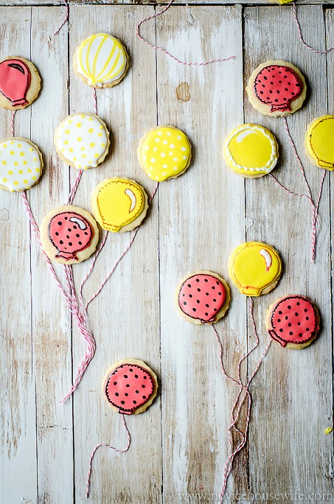 balloon sugar cookie-3