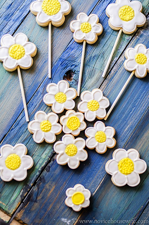 daisy sugar cookies-3