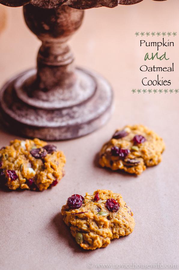 Pumpkin and oatmeal cookies-5