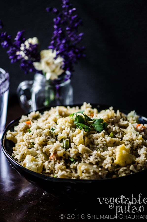 Vegetable Pulao | The Novice Housewife