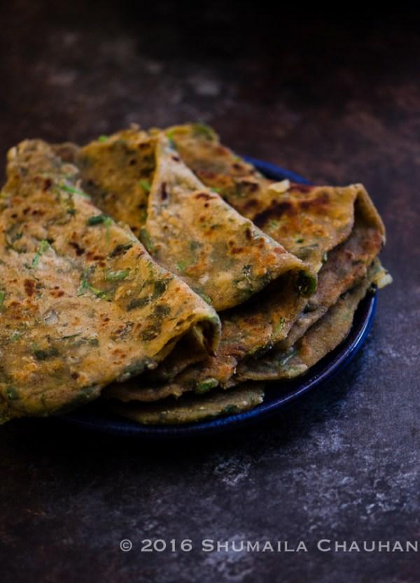 Methi Parnatha/ Wholewheat Fenugreek Flatbread