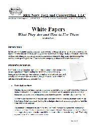 White paper on white papers