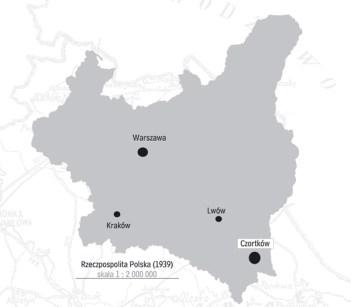 położenie Czortkowa na mapie II RP / Źródło: IPN