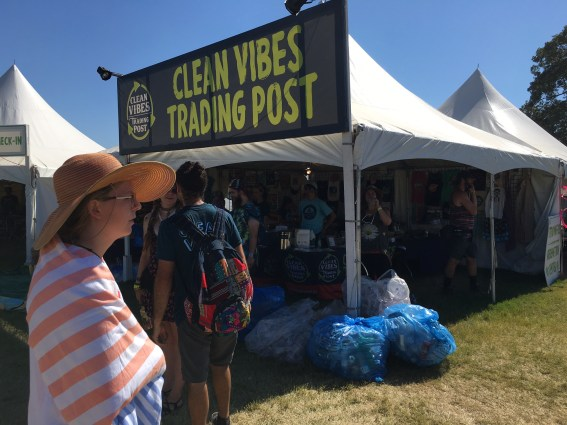 At the Clean Vibes Trading Post, patrons can trade in trash for Bonnaroo merch.