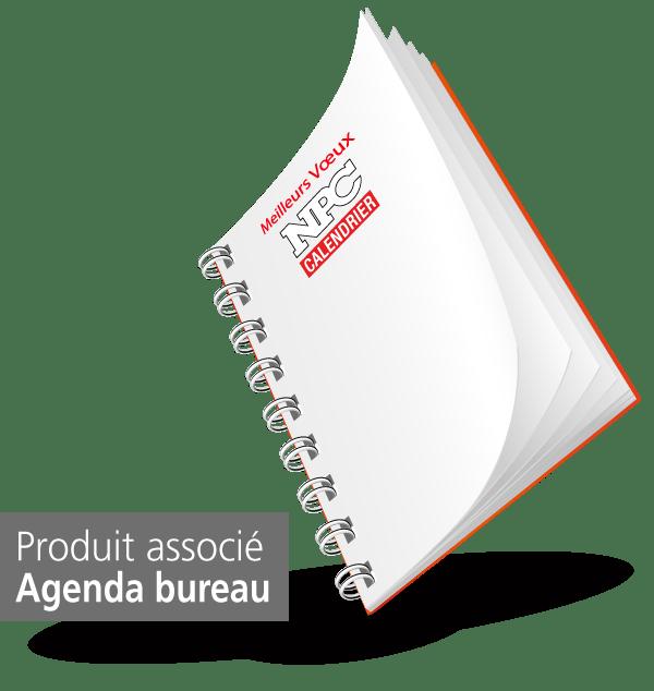 produit agenda de bureau pompiers, npc-calendrier.fr