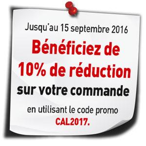 10 pour cent de réduction sur votre commande npc-calendrier.fr