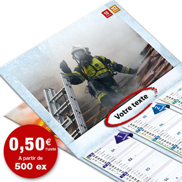 calendrier de pompier personnalisé texte et photo, npc calendrier 8+4 standard