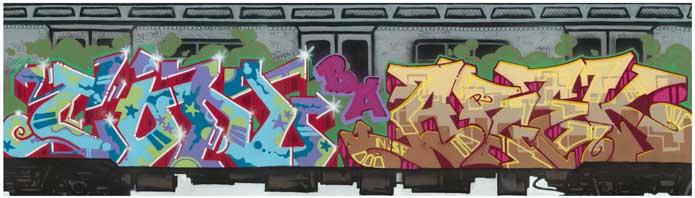 CON/AREK Tim Conlon and Dave Hupp, 2007 Montana spray paint on Sintra panel