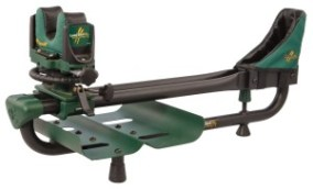 This is a one-piece rifle rest. Some benchrest competitions mandate that the front rest and rear be two separate pieces, while others allow rests like this one from Caldwell.