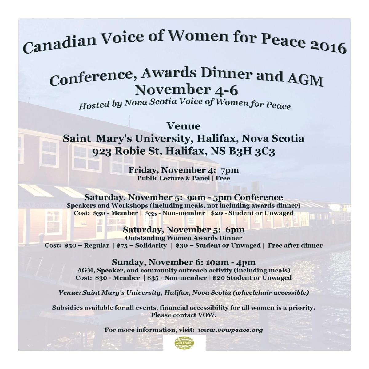Conference, Awards Dinner and AGM