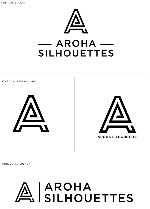 aroha silhouettes graphic design