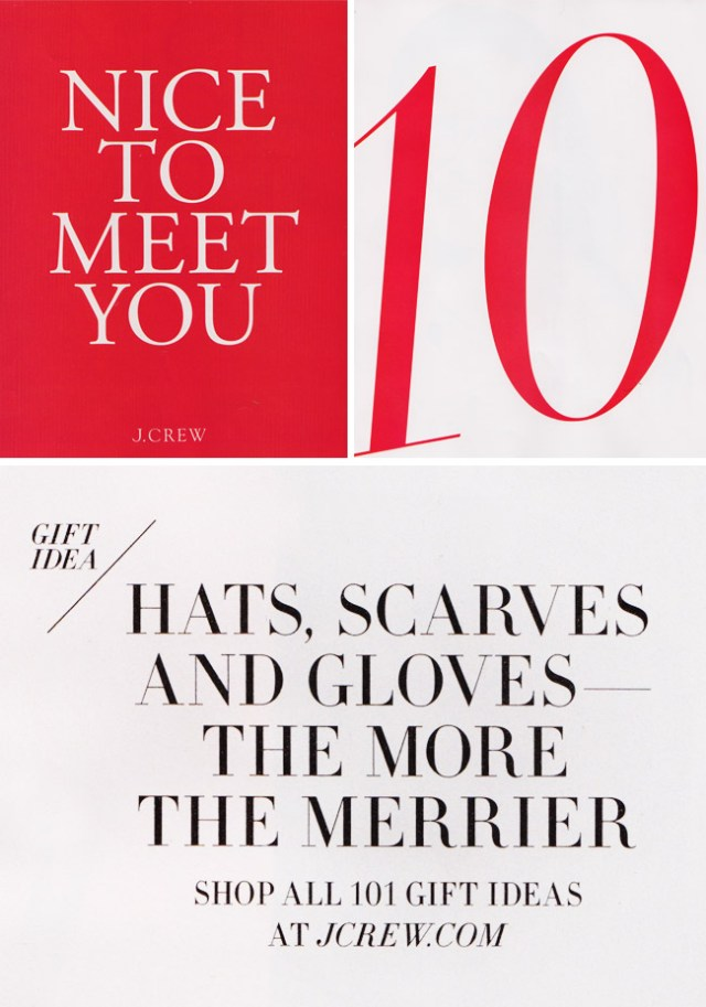 The Typofiles: J. Crew Holiday Catalog