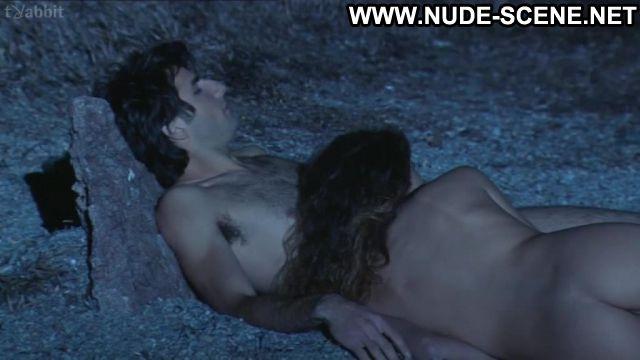 Marina Kalogirou Nude Sexy Scene Real Life Beach Brunette