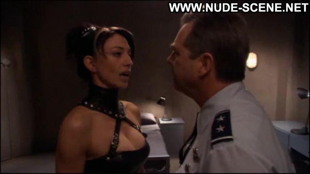 Claudia Black Nude Sexy Scene Stargate Leather Fetish Famous