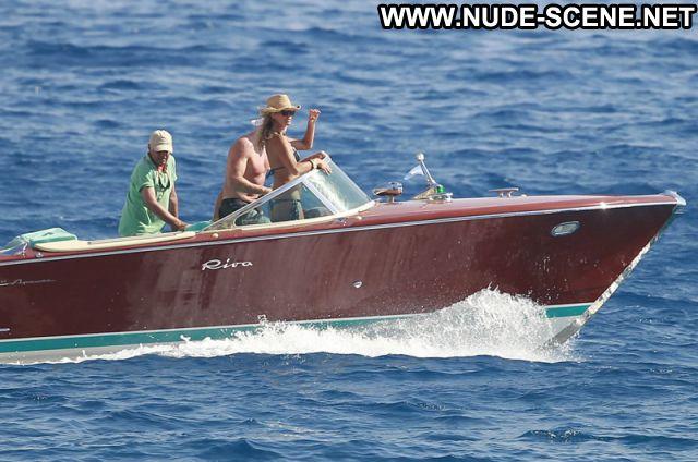 Elle Macpherson Nude Sexy Scene Boat Bikini Showing Tits Hot