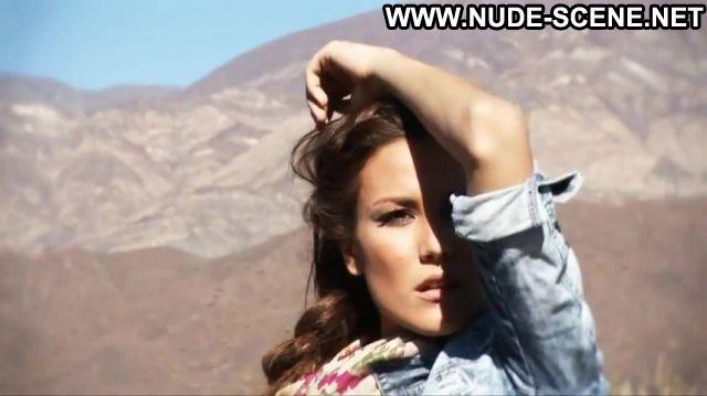 Luli Fernandez Jeans Brunette Showing Tits Celebrity Horny
