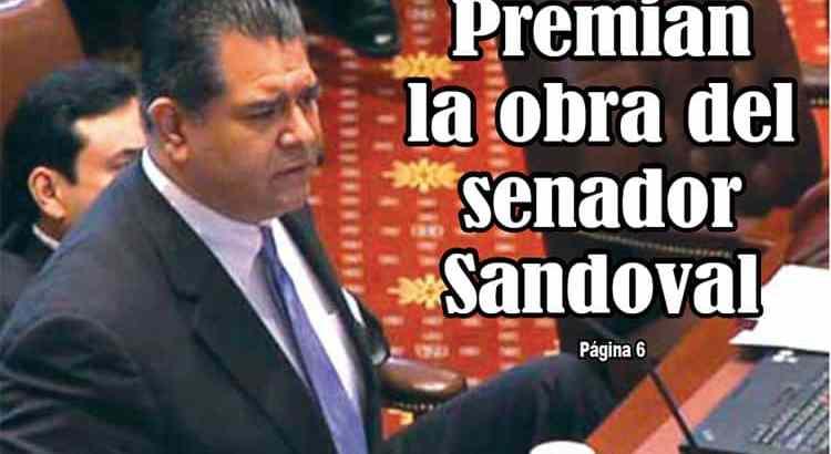Premian obra del senador Sandoval