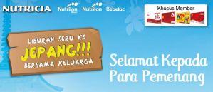 pemenang nutricia alfamart ke Jepang