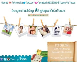 Ungkapkan Cinta Tessa Raih Voucher Belanja & Pulsa Gratis!