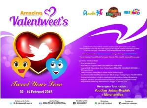 Amazing Valentweets, Berhadiah Voucher & Merchandise