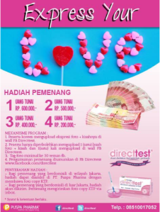 Express Your Love, Berhadiah Uang Tunai!