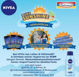 60 Pemenang I Like Sunshine (Nivea - Indomaret)