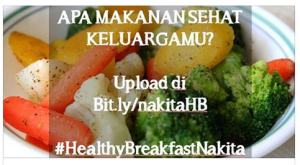 My Healthy Breakfast Contest (Nakita) Berhadiah Hand Blender & Voucher Belanja