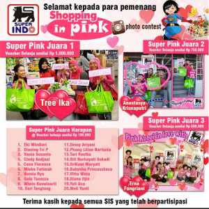 23 Pemenang Shopping In Pink Contest - Superindo