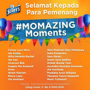 20 Pemenang Momazing Moments