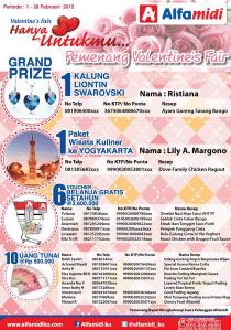 18 Pemenang Valentine Fair Hanya Untukmu
