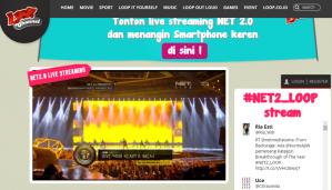 Keren Live Streamingnya NET 2,0 Via Loop Channel!!