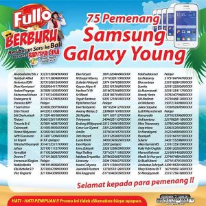 75 winners samsung galaxy