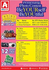 40 Pemenang Be Your Self BeYOUtiful - Alfamidi