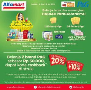 Belanja Produk P&G Berhadiah Cash Back Serta Logam Emas