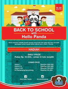 Back To School With Hello Panda, Berhadiah Voucher Pulsa & Voucher Belanja