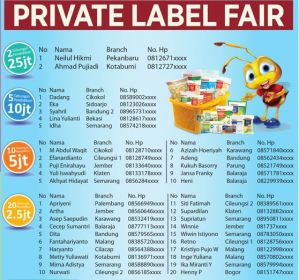 37 Pemenang Private Label Fair - Alfamart