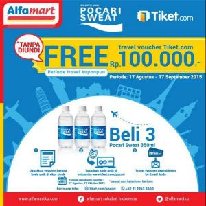 Beli 3 Pocari Sweat Gratis Travel Voucher Rp.100.000