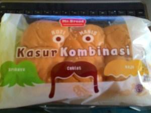 Roti Kasur Kombinasi Mr Bread : Ada Srikaya, Coklat & Keju