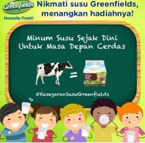 Nikmati Susu Greenfields Menangkan Voucher Belanja