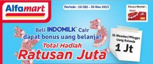 35 Pemenang Uang Belanja @Rp 1 Juta Minggu 1 (Indomilk-Alfamart)