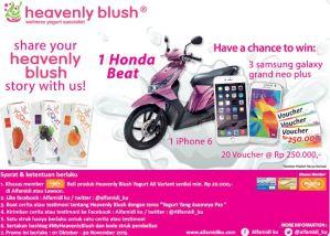 Ceritakan Testimoni Heavenly Blush Mu Berhadiah Honda Beat