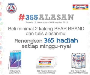 Beli Bear Brand Tuliskan Alasanmu Untuk Memenangkan 365 Hadiah Setiap Minggunya