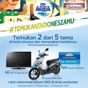 Temukan Indonesiamu Berhadiah Honda Vario (Aqua- Indomaret)