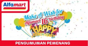 166 Pemenang Alfamart Birthday 16th