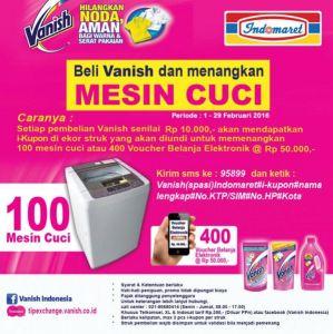 Beli Vanish Di Indomaret, Menangkan 100 Mesin Cuci!