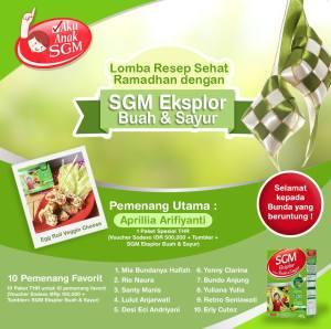 11 Pemenang Lomba Resep Sehat Bersama SGM Eksplor Buah & Sayur