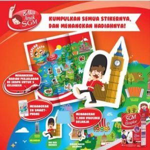 Koleksi Sticker SGM, Berhadiah Trip Keluarga Ke Eropa