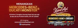 Kapal Api Berhadiah  Mercedes Benz & Ducati Monster