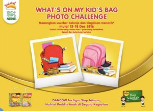 Whats On My Kids Bag Photo Challenge Berhadiah Voucher Belanja