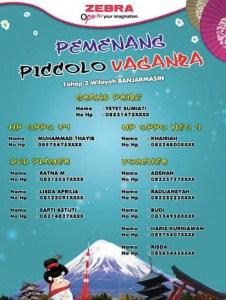 132 Pemenang Picollo Vaganza Tahap 2